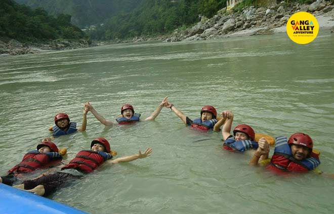 Body Surfing Activity in Rishikesh